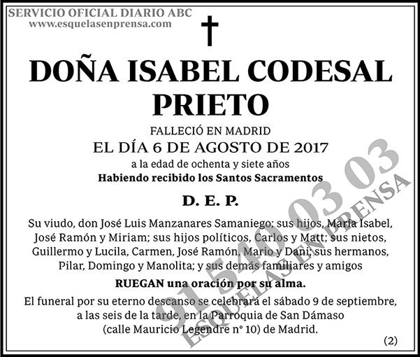 Isabel Codesal Prieto